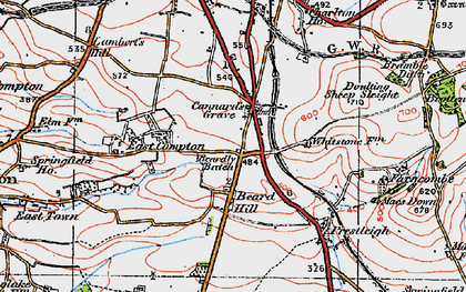Old map of Beardly Batch in 1919