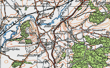 Old map of Killerton Park in 1919