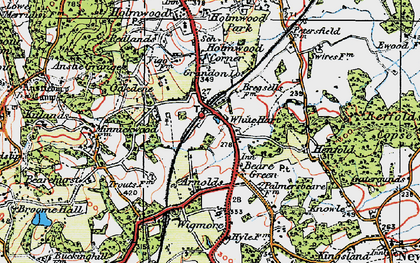 Old map of Wigmore in 1920