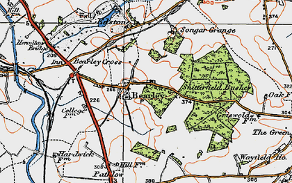 Old map of Bearley in 1919