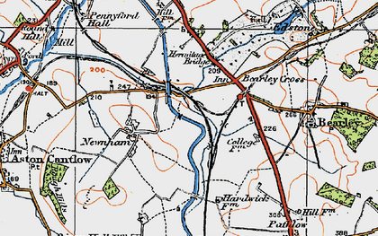 Old map of Bearley Cross in 1919