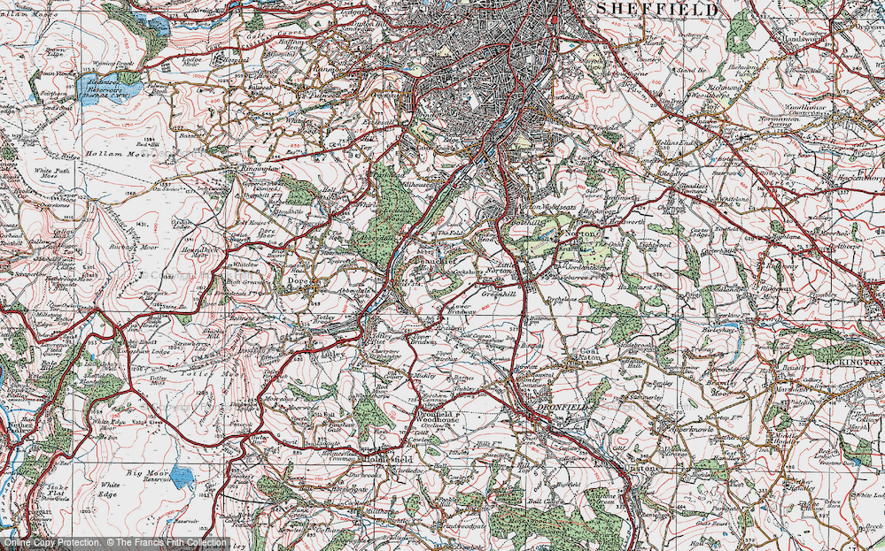 Old Map of Beauchief, 1923 in 1923