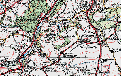 Old map of Beauchief in 1923