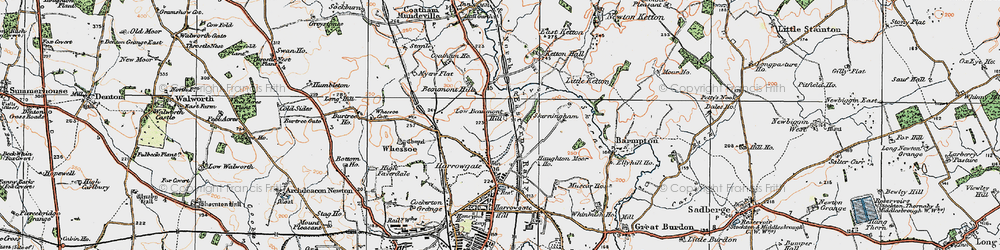 Old map of Beaumont Hill in 1925