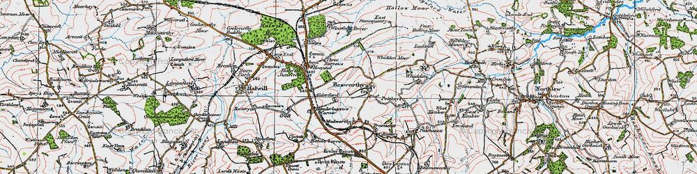 Old map of Alderford in 1919