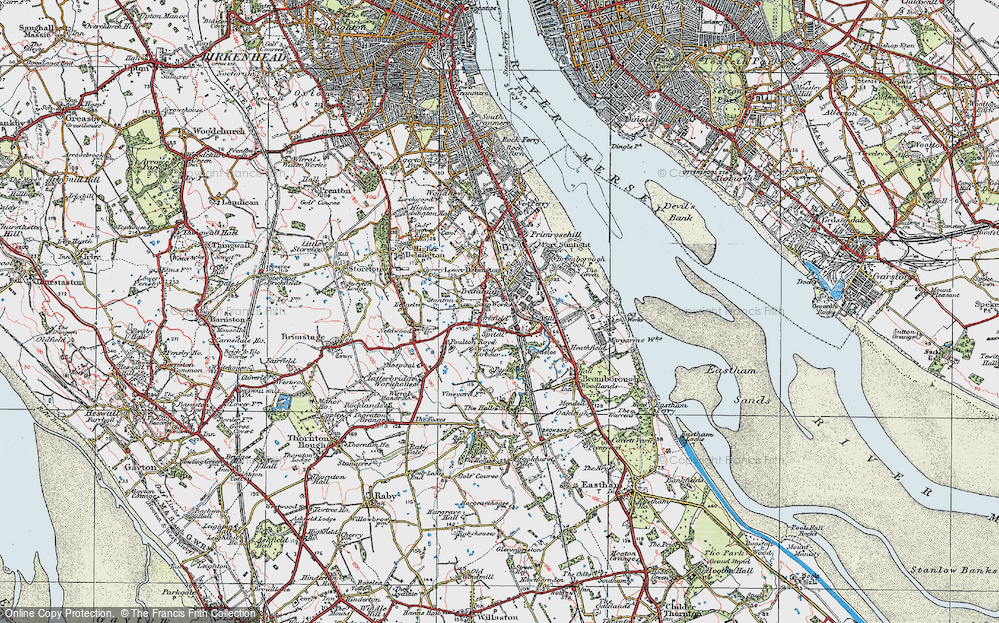 Old Maps of Bebington Francis Frith