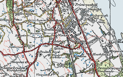 Old map of Bebington in 1924