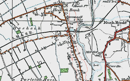 Old map of Becconsall in 1924