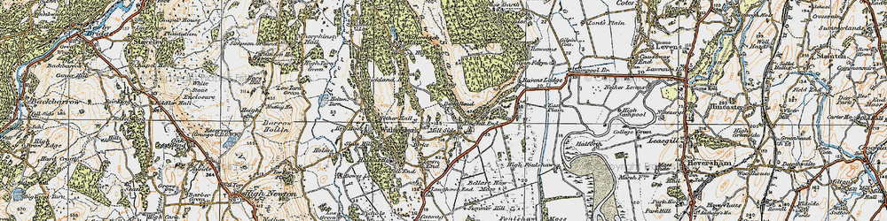 Old map of White Scar in 1925