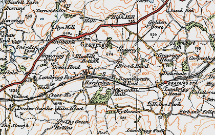 Old map of Wythmoor in 1925