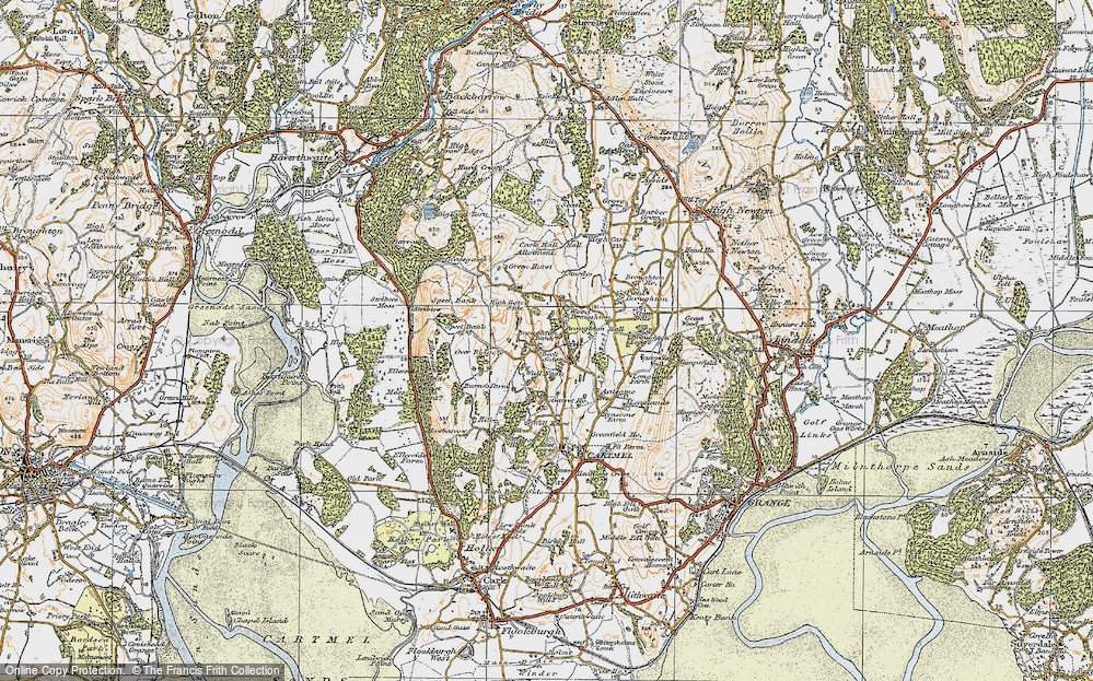 Old Map of Historic Map covering Wood Broughton in 1925