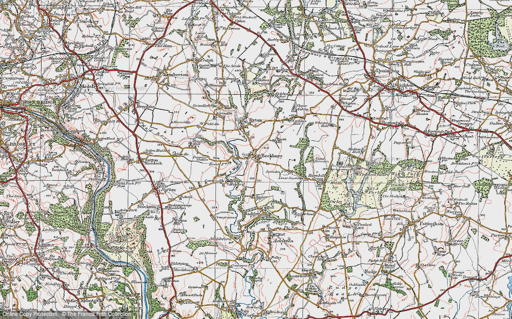 Old Map of Beckbury, 1921 in 1921