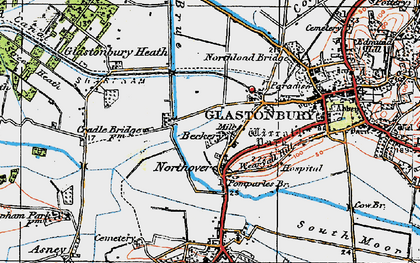 Old map of Beckery in 1919