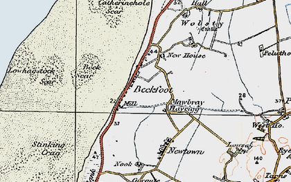 Old map of Beckfoot in 1925