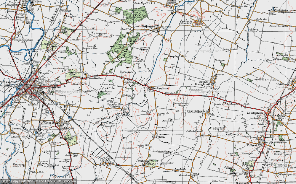Old Map of Beckingham, 1921 in 1921