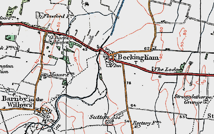 Old map of Beckingham in 1921
