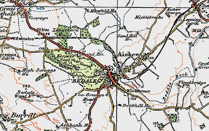 Old map of Bedale in 1925