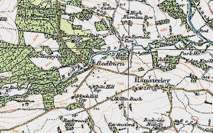 Old map of Windy Bank in 1925
