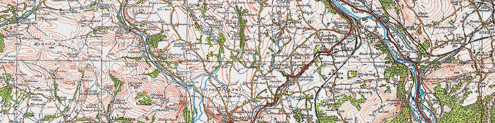 Old map of Beddau in 1922