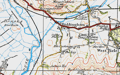 Old map of White Lion Pond in 1920