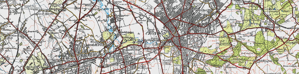 Old map of Beddington in 1920