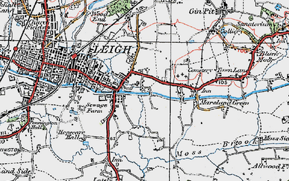 Old map of Bedford in 1924