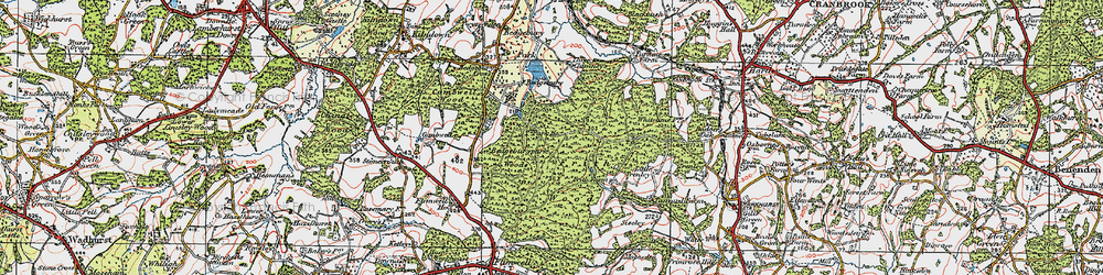 Old map of Bedgebury in 1921