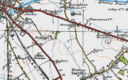 Old map of Bedgrove in 1919