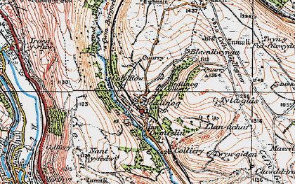 Old map of Bedlinog in 1919
