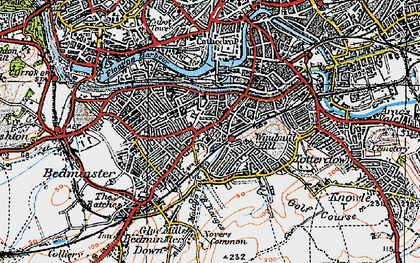 Old map of Bedminster in 1919
