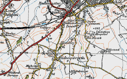 Old map of Bedminster Down in 1919