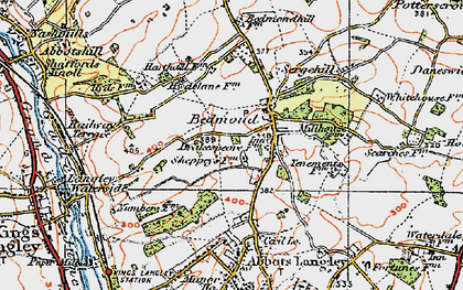 Old map of Bedmond in 1920