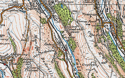 Old map of Bedwellty Pits in 1919