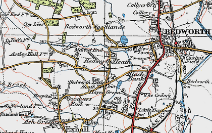 Old map of Bedworth Heath in 1920