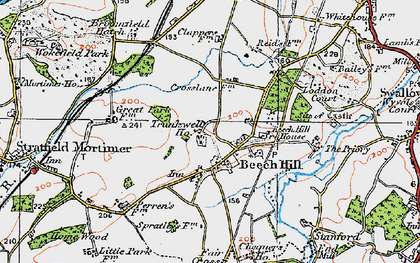 Old map of Beech Hill in 1919