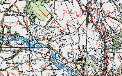 Old map of Beech Hill in 1924