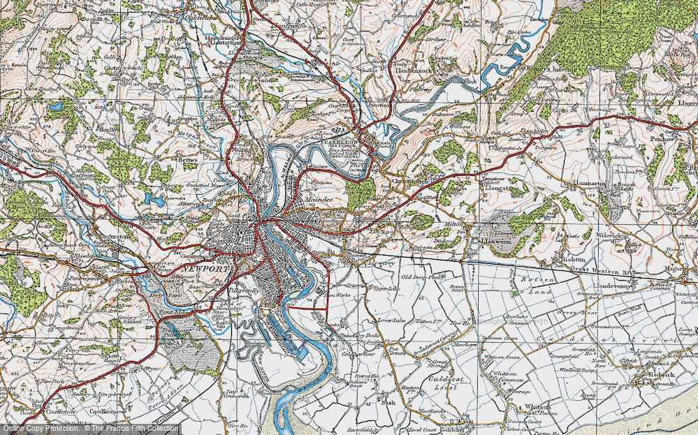 Old Map of Beechwood, 1919 in 1919