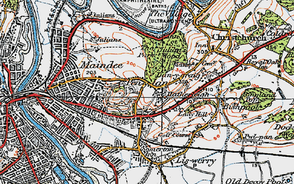 Old map of Beechwood in 1919