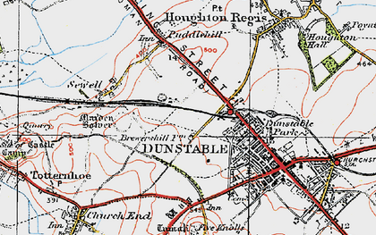 Old map of Beecroft in 1920