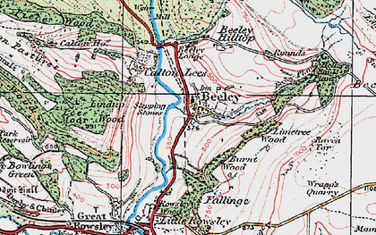 Old map of Limetree Wood in 1923