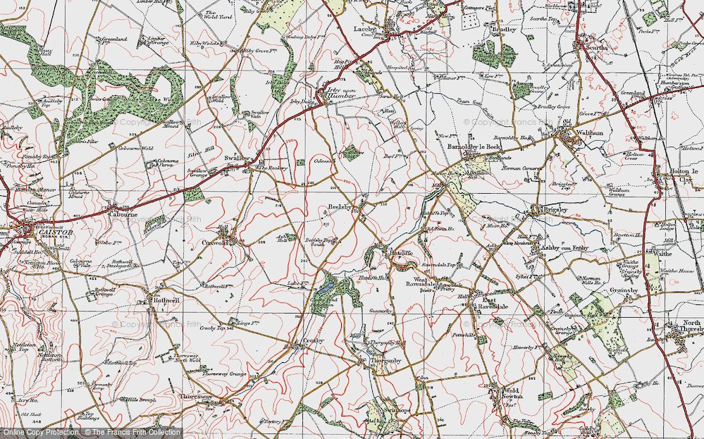 Old Map of Beelsby, 1923 in 1923