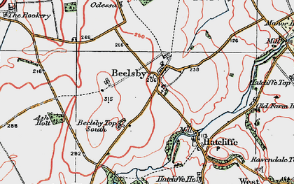 Old map of Beelsby in 1923