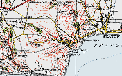 Old map of Beer in 1919