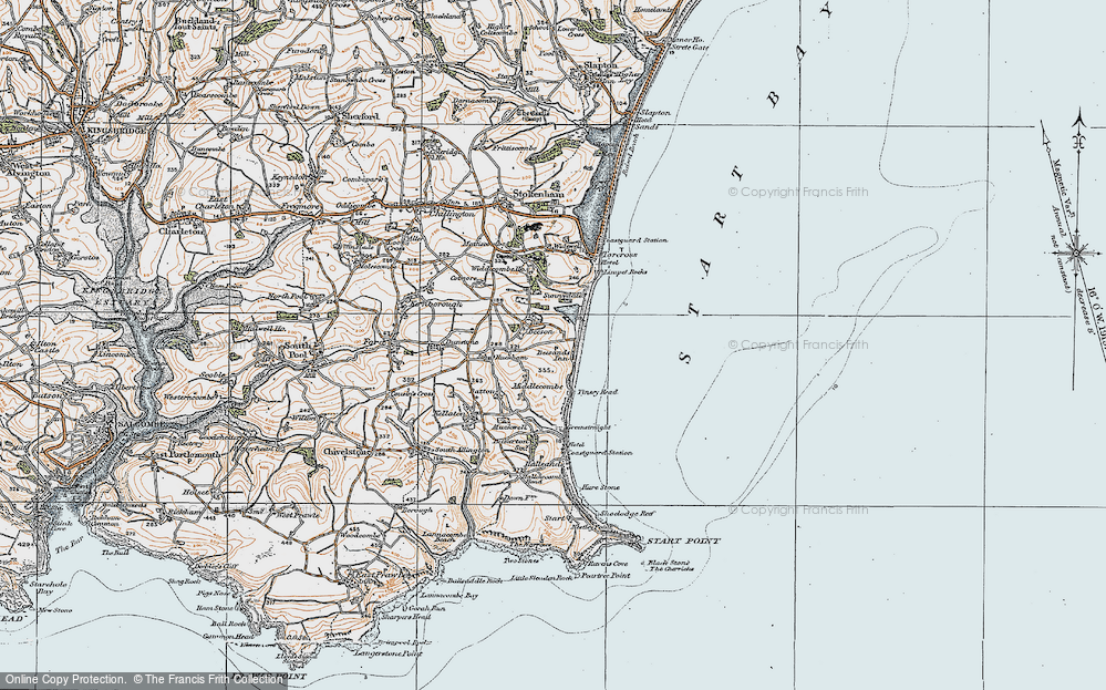 Old Map of Beesands, 1919 in 1919