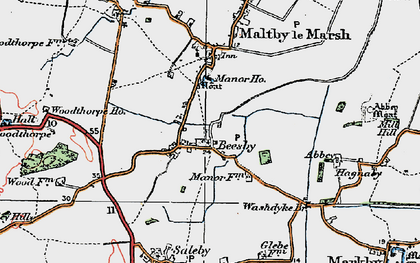 Old map of Beesby in 1923