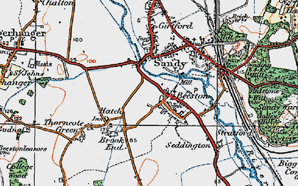 Old map of Beeston in 1919