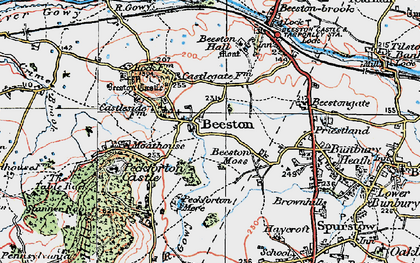 Old map of Beeston in 1923