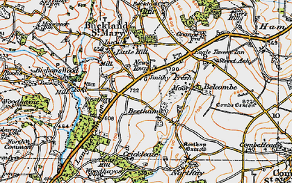 Old map of Beetham in 1919
