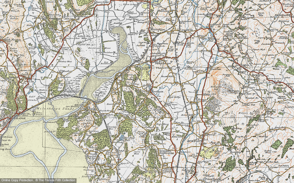 Old Map of Beetham, 1925 in 1925
