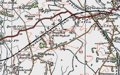 Old map of Broadhill in 1921